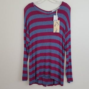 NWT Gibson Striped Top - L